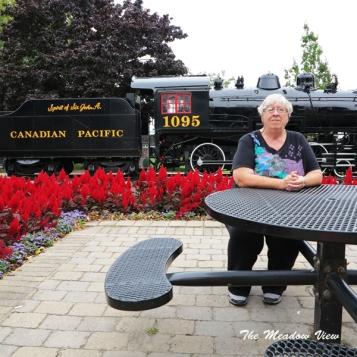 CP Rail car at Confederation Park