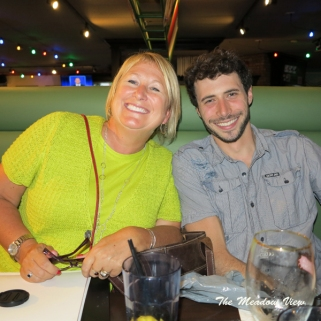 Mary-Anne and Lee at dinner