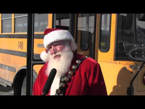 Santa School Bus