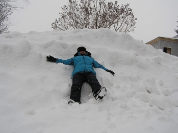 Now that's a snowbank!
