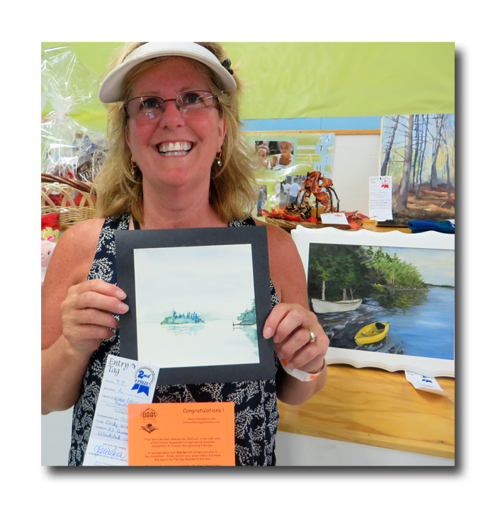 Cindy with her winning entry.