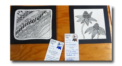 Zentangles by me and Cindy.