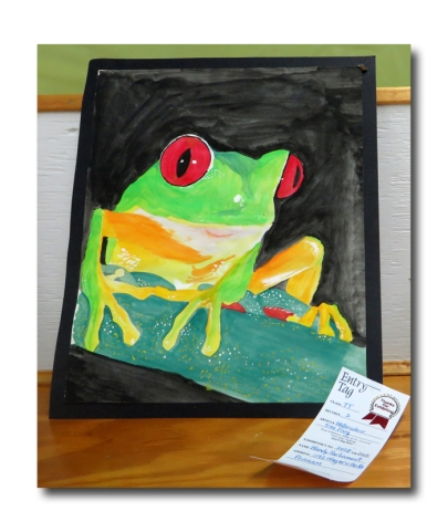 My watercolour frog.