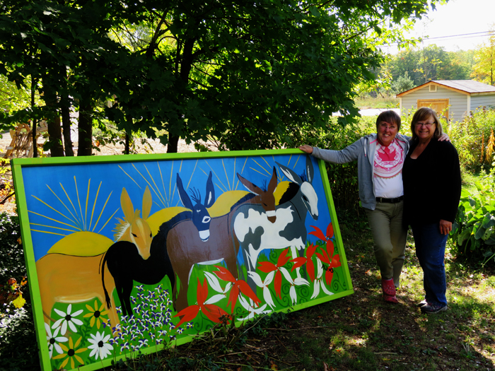 New sign for the paddock gate - thank you Arlene Uens!