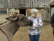 Sandy saying hello to Kathy.
