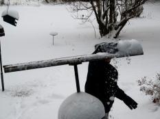 Swoosh! Fluffy light snow