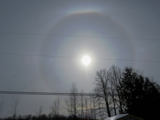 I don't think it was the circle around the sun ...