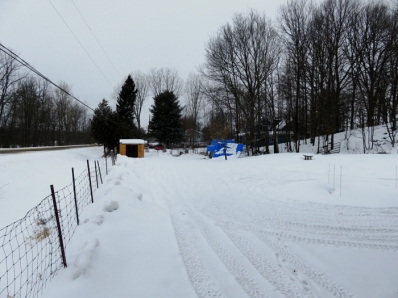 We had about five centimetres of snow - enough to cover the ice in preparation for tomorrows 25 cm storm!