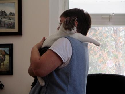 Oz loves a shoulder ride. ;)
