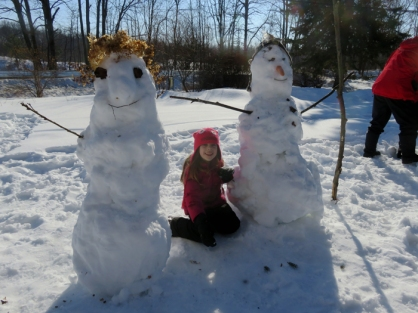 A perfect day for making snow people!