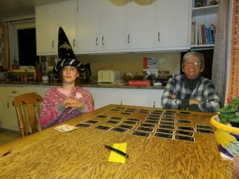 The wizard and Gramma Ede finished the day with a game of Concentration.