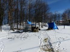 The snow was so whipped by the wind it felt like walking on styrofoam.