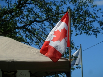 We have a great flag ... and they are flying everywhere for Canada's 150th birthday this July.